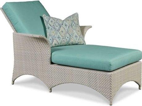 Woodbridge Furniture Ventana Floral Gray Adjustable Chaise Lounge Chair WBF731171O