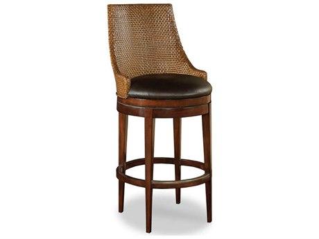 Woodbridge Furniture Woven Umber Side Swivel Bar Height Stool