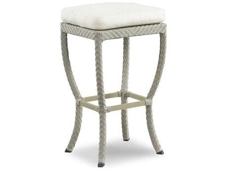 Woodbridge Furniture Woven Floral Gray Side Bar Height Stool