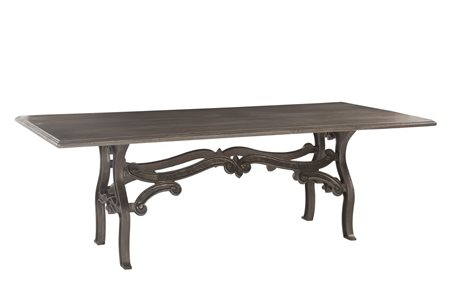 World Interiors Anderson Weathered Gray, Gun Metal 90'' Wide Rectangular Dining Table
