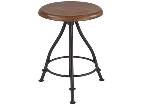 World Interiors Artezia Walnut, Lacquer Side Adjustable Bar Height Stool Dining Chair WITZWAT13131
