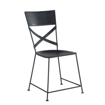 World Interiors Artezia Matte Black Side Dining Chair