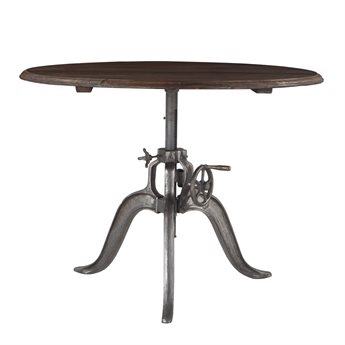 World Interiors Artezia Weathered Gray, Gun Metal 46'' Wide Round Counter Height Dining Table WITZWAT4829