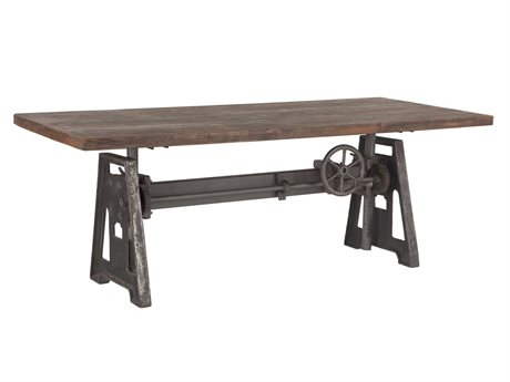 World Interiors Artezia Weathered Gray, Gray Zinc 83'' Wide Rectangular Dining Table