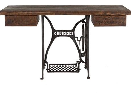 World Interiors Artezia Natural, Gun Metal Secretary Desk WITZWAT54144