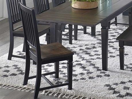 World Interiors Aureille Dark Walnut / Black Rub Side Dining Chair