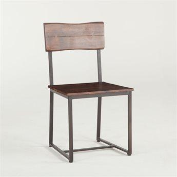 World Interiors Belfrie Walnut, Antique Zinc Side Dining Chair WITZWBF189