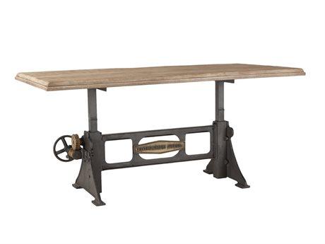 World Interiors Bethlehem Antique Oak, Gun Metal 72'' Wide Rectangular Dining Table WITZWBMADT76