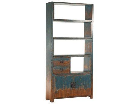 World Interiors Biblioteche Antique Blue Bookcase