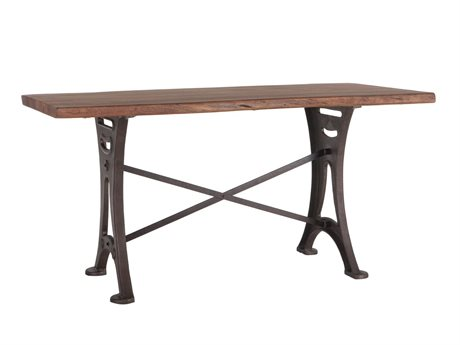 World Interiors Blayne Natural Walnut, Antique Zinc 72'' Wide Rectangular Counter Height Dining Table WITZWBAGT72