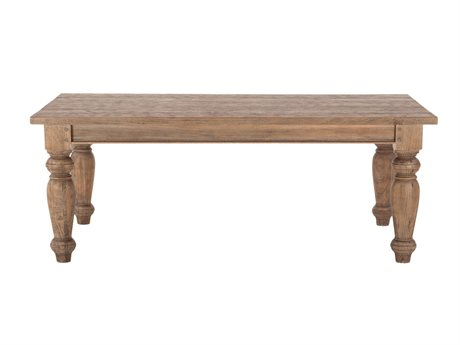 World Interiors Chatham Downs Weathered Teak 88'' Wide Rectangular Dining Table