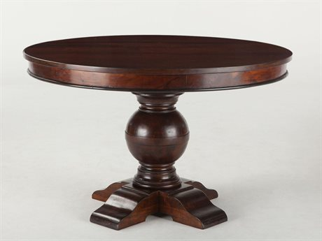 World Interiors Chatham Downs Weathered Teak 48'' Wide Round Dining Table