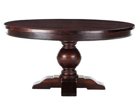 World Interiors Chatham Downs Brown Mahogany 60'' Wide Round Dining Table