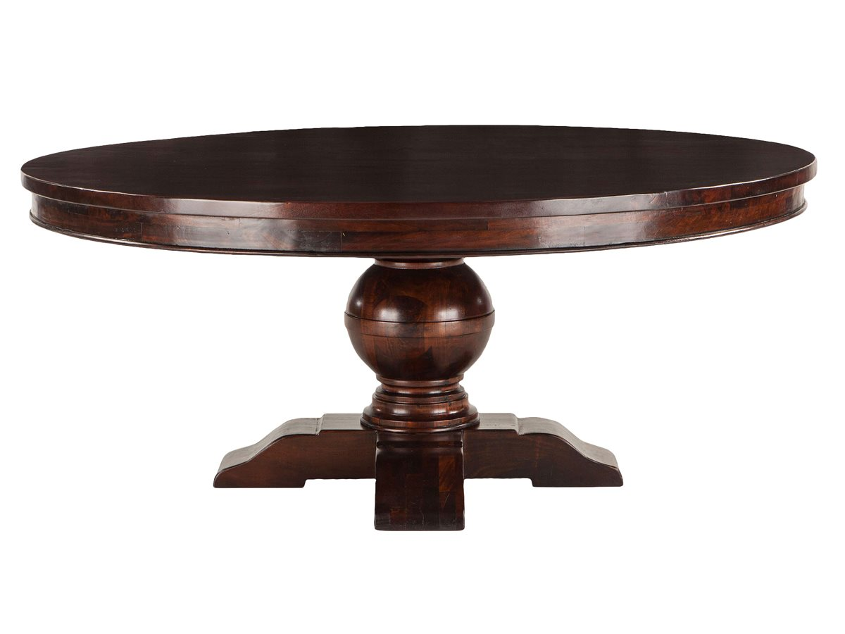 World Interiors Chatham Downs Brown Mahogany 72 Wide Round Dining Table