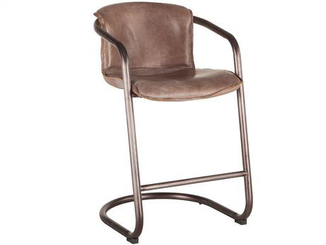 World Interiors Chiavari Distressed Jet Brown / Brushed Nickel Arm Counter Height Stool WITZWPFCC22JBG