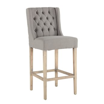 World Interiors Chloe Natural Side Bar Height Stool