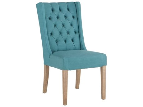 World Interiors Chloe Teal / Natural Side Dining Chair (Set of 2)