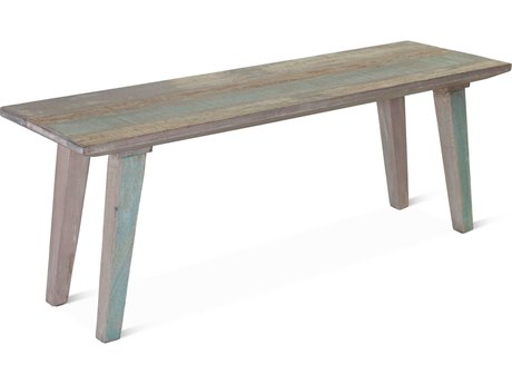 World Interiors Cordoba Vintage Teal Accent Dining Bench