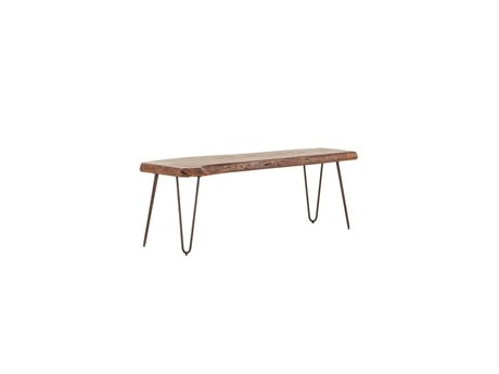 World Interiors Grandby Walnut, Antique Zinc Accent Bench WITZWGAN542WN