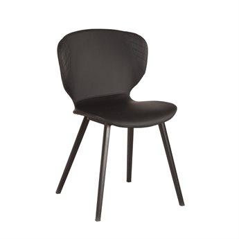 World Interiors Hudson Black / Matte Side Dining Chair (Set of 2)