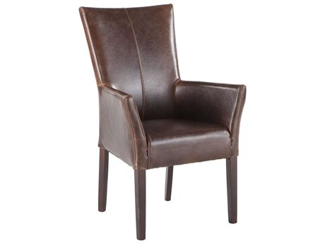 World Interiors Jaden Brown / Dark Walnut Arm Dining Chair