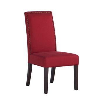 World Interiors Jona Deep Red / Dark Walnut Side Dining Chair WITZWJN27013D