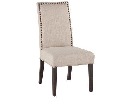 World Interiors Jona Beige / Dark Walnut Side Dining Chair (Set of 2)