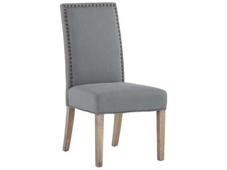 World Interiors Jona Warm Gray / Natural Side Dining Chair (Set of 2)