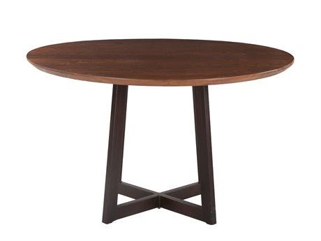 World Interiors Mapai Walnut 48'' Wide Round Dining Table