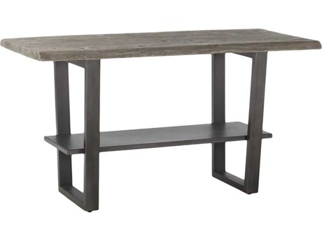 World Interiors New Orleans Weathered Gray / Gun Metal 66'' Wide Rectangular Counter Height Dining Table WITZWSBGT66WGGF
