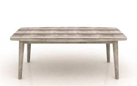 World Interiors Newport Whitewash, Weathered Gray, Lacquer 78'' Wide Rectangular Dining Table
