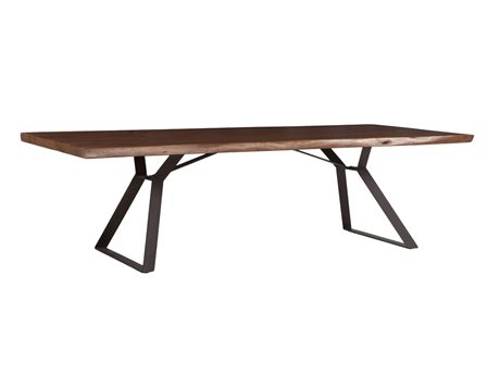 World Interiors Nottingham Walnut, Antique Zinc 106'' Wide Rectangular Dining Table