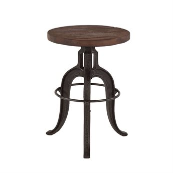 World Interiors Paxton Walnut, Lacquer Side Adjustable Bar Height Stool Dining Chair WITZWPX131