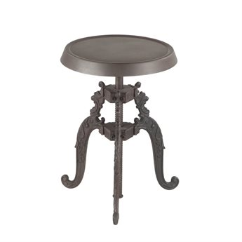 World Interiors Regina Distressed Side Adjustable Swivel Bar Height Stool Dining Chair WITZWRG131