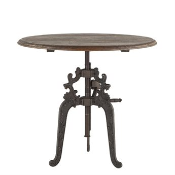 World Interiors Regina Weathered Gray, Antique Black 40'' Wide Round Bar Height Counter Dining Table WITZWRGG4039
