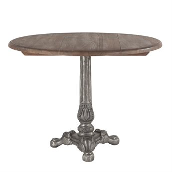 World Interiors Regina Weathered Gray, Natural 40'' Wide Round Dining Table WITZWRGRD40GR
