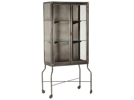 World Interiors The Iron City Gun Metal Bar Cabinet WITZWLBGC32