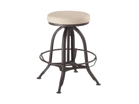 World Interiors Welles Antique Zinc Side Adjustable Swivel Bar Height Stool Dining Chair WITZWSESL22