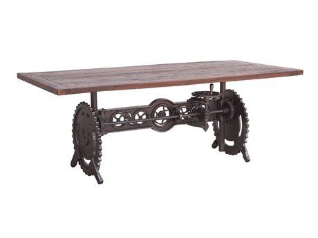 World Interiors Welles Walnut, Gray Zinc 82'' Wide Rectangular Dining Table WITZWSEDT84