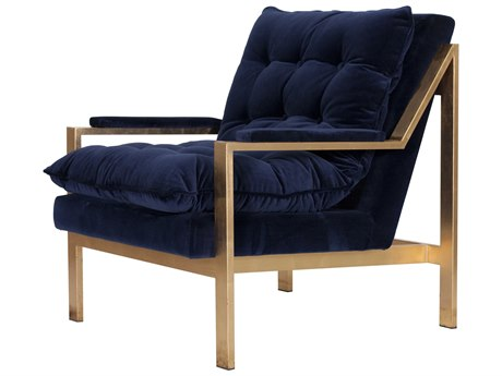 Worlds Away Accent Chair WACAMERONGNAVY