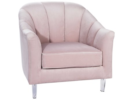 Worlds Away Accent Chair WAGAYLEBLUSH