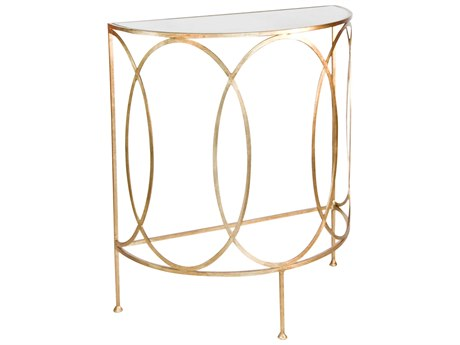 Worlds Away 30'' Wide Demilune Console Table