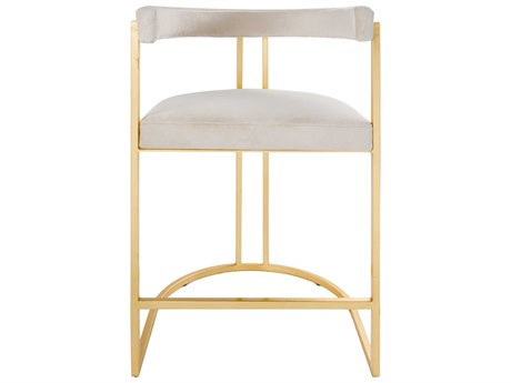 Worlds Away Arm Counter Height Stool WACROMWELLGCRM