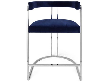 Worlds Away Arm Counter Height Stool WACROMWELLNNVY