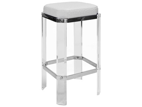 Interlude Home Darcy Grey Nickel Counter Stool Il148105