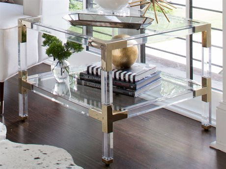 Worlds Away 24'' Wide Square End Table WACONNORBR