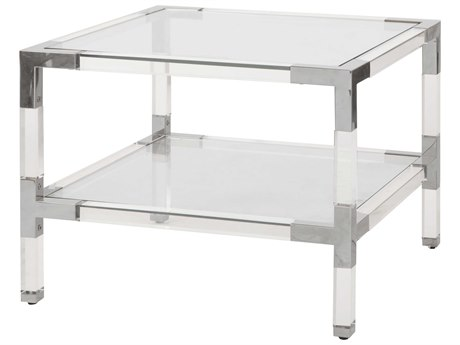 Worlds Away 24'' Wide Square End Table WACONNORN