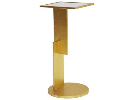 Worlds Away 10'' Wide Rectangular Pedestal Table