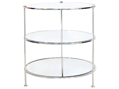 Worlds Away 25'' Wide Round End Table