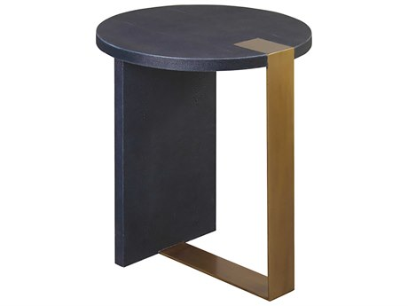 Worlds Away 22'' Wide Round End Table WAHARRINGTONNVYS